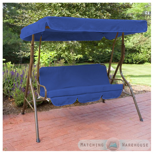 Replacement 2 Seater Swing Seat Canopy Cover and Cushions ...