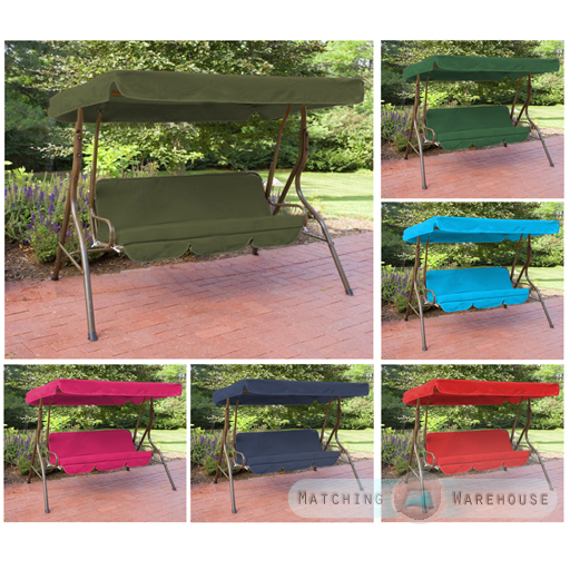 Item specifics  sc 1 st  eBay & Replacement 3 Seater Swing Seat Canopy Cover and Cushions Set ...