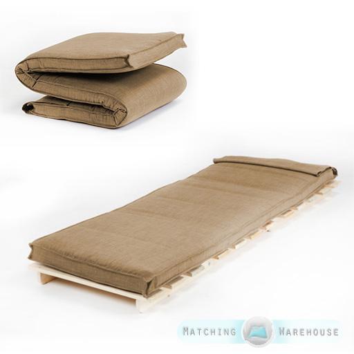 single size futon mattress folding foam filled removeable fabric