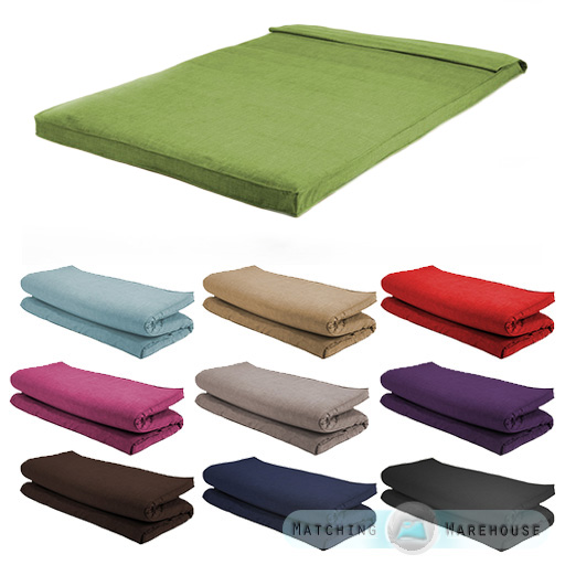 Fabric Double Size Futon Mattress Folding Foam Filled
