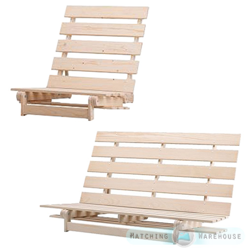 Wooden Futon Base Frame 1 Seater Single And 2 3 Str Double Ikea Grankulla Size