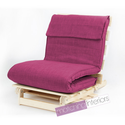 pink single 1 seater fabric complete futon wood base. Black Bedroom Furniture Sets. Home Design Ideas