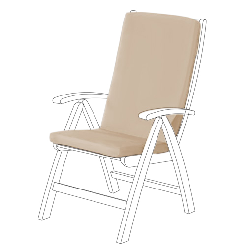 Stone Water Resistant Highback Garden Dining Chair Back