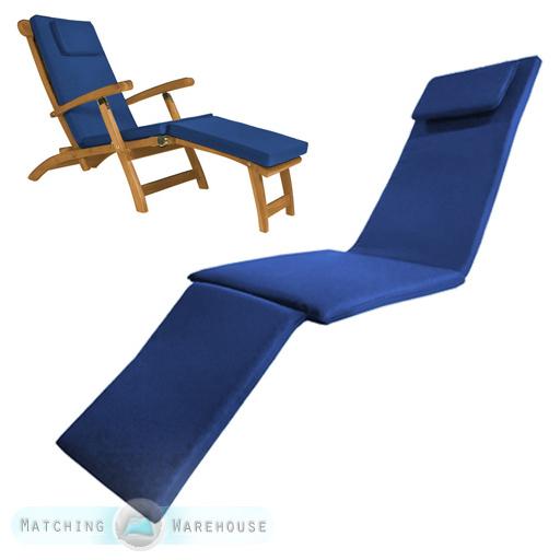 Superieur Waterproof Steamer Chair Cushion Seat Pad ONLY Garden