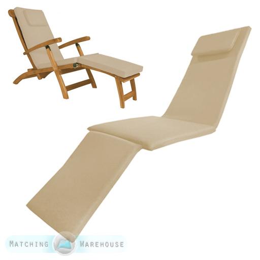 waterproof steamer chair cushion seat pad only garden patio sun