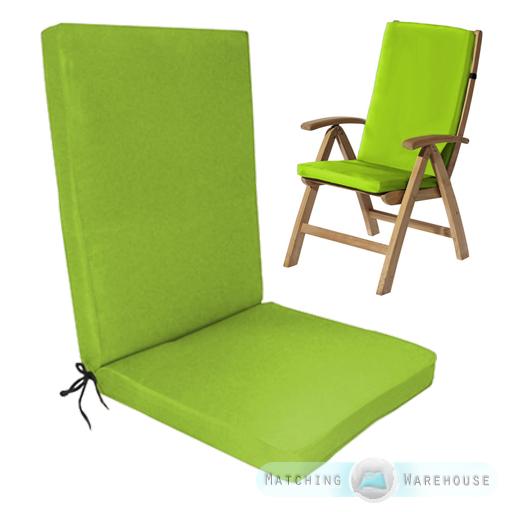 Highback-Garden-Dining-Chair-Cushion-Pad-Outdoor-Furniture- - Highback Garden Dining Chair Cushion Pad Outdoor Furniture High Back