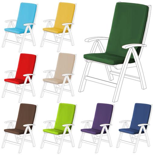 Highback Garden Dining Chair Cushion, Garden Furniture Cushions