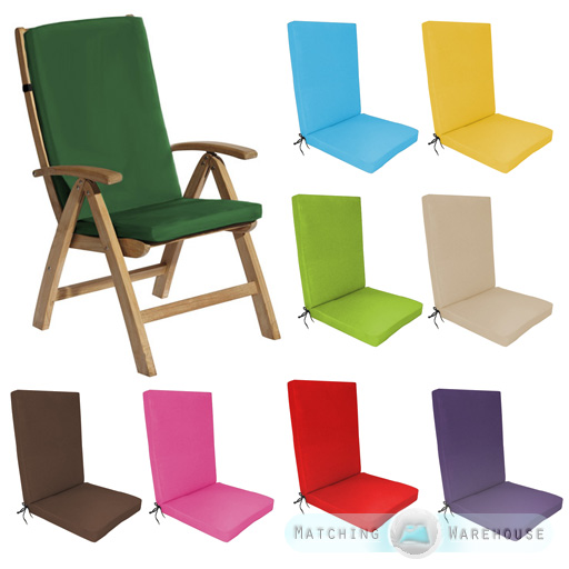 Awesome Highback Garden Dining Chair Cushion Pad Outdoor Furniture High Back  Recliner