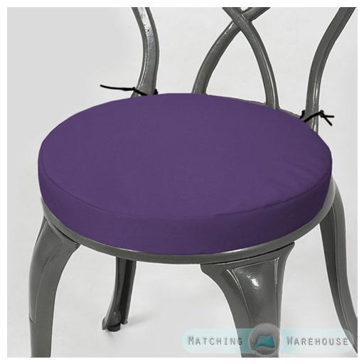 Superior Round Garden Chair Cushion Pad Only Waterproof Outdoor Bistro