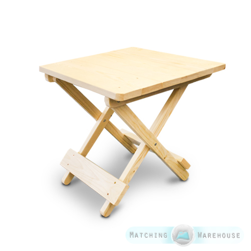 Side Table Small Wooden Snack Folding Outdoor Garden Patio Furniture Uncoated 5055889320973 Ebay