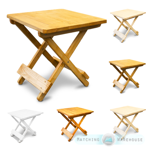 wood folding table side table small wooden snack folding outdoor garden patio 31066