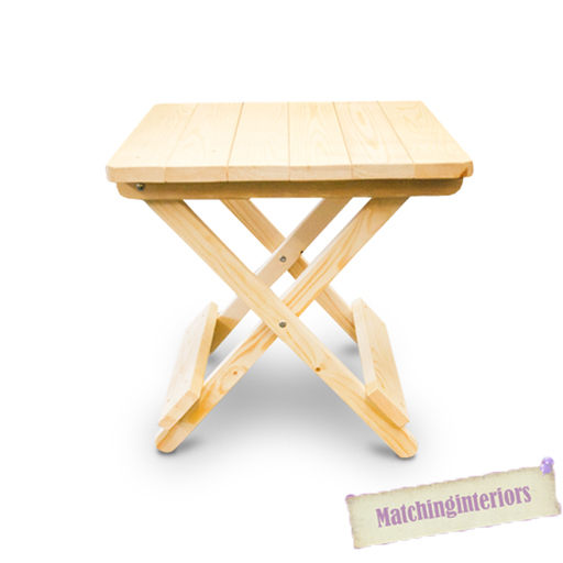 Plain Wooden Side Folding Picnic Camping Table Small