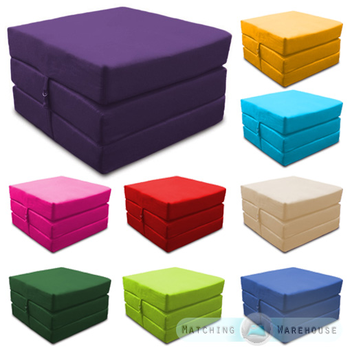 Waterproof Fold Out Cube Guest Z Bed Chair Stool Futon