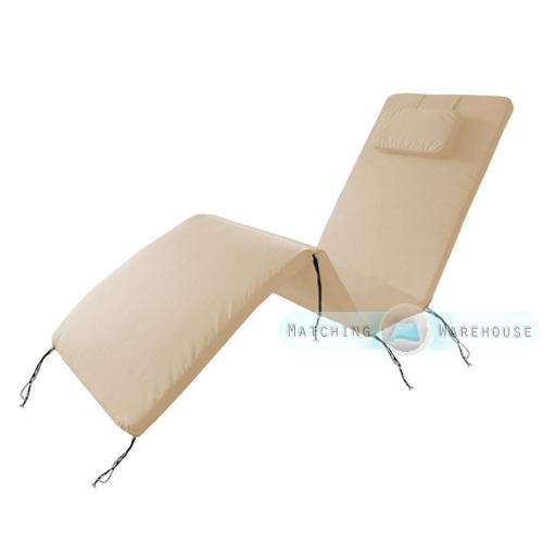 waterproof cushion pad for outdoor garden patio adjustable sun lounger bed ebay. Black Bedroom Furniture Sets. Home Design Ideas
