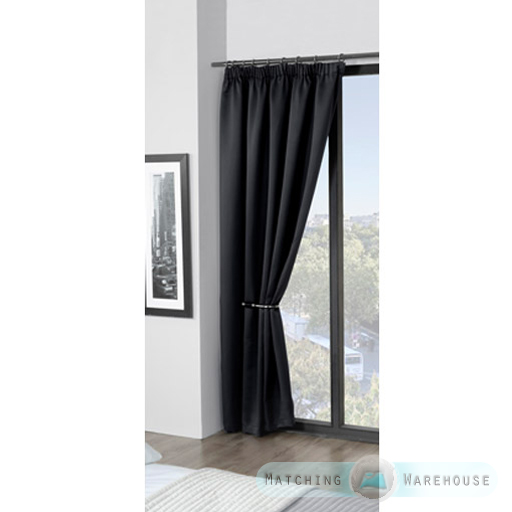 Childrens-Plain-Colour-Dyed-BlackOut-Thermal-Curtains-Tape-Top-Pencil-Pleat-Kids thumbnail 5
