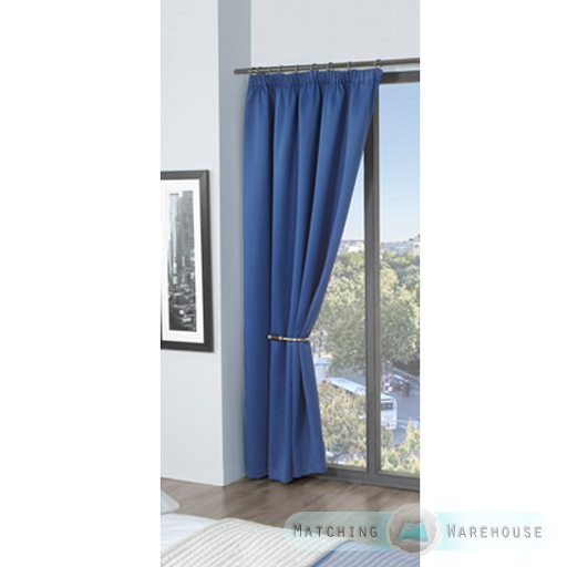 Childrens-Plain-Colour-Dyed-BlackOut-Thermal-Curtains-Tape-Top-Pencil-Pleat-Kids thumbnail 12