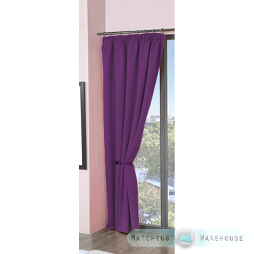 Childrens-Plain-Colour-Dyed-BlackOut-Thermal-Curtains-Tape-Top-Pencil-Pleat-Kids thumbnail 27