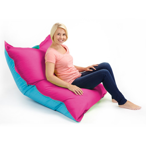 Two Tone Bean Bags Floor Cushion Large Water
