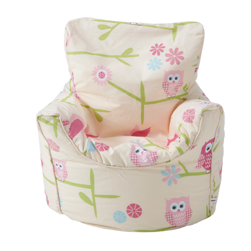 Childrens Beanbag Chair Owls Twit Twoo Girls Kids Bedroom