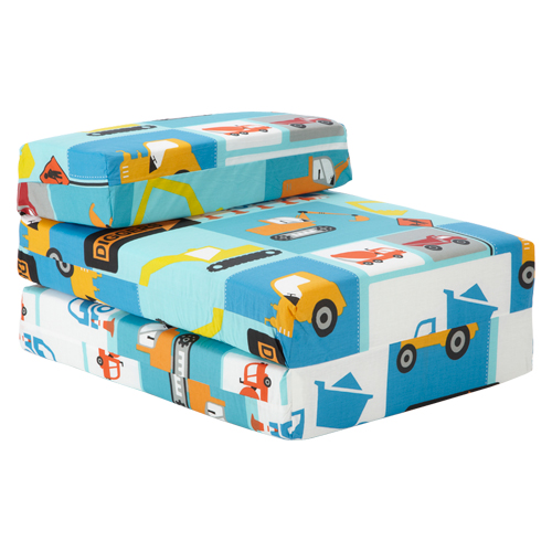 Kids Character Foam Fold Out Sleep Over Guest Single Futon Chair Sofa Z Bed Seat