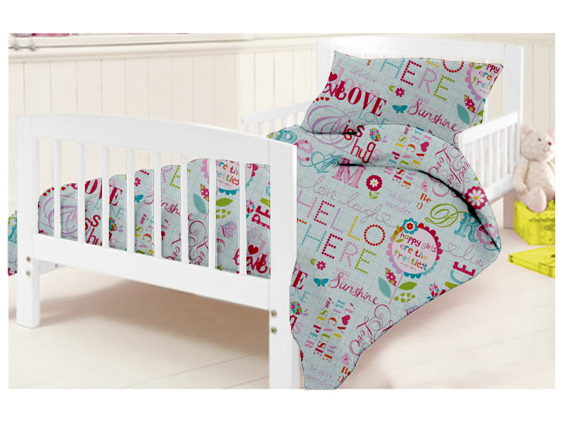 kinder kinderbett bettbezug kissenbezug set kinderzimmer baby kleinkind kinder ebay. Black Bedroom Furniture Sets. Home Design Ideas