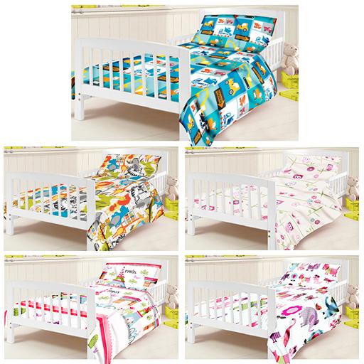 Childrens Junior Cot Bed Duvet Cover Amp Pillowcase Set
