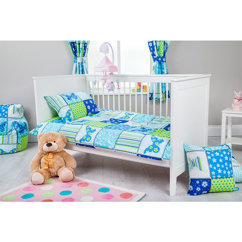 Ready Steady Bed Road Signs Design Childrens Cot Size Duvet Cover Set 100cm x 120cm with Pillowcase