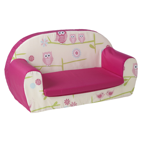 owls pink kids children s double foam sofa toddlers seat nursery rh ebay ie mini sofa for toddlers sofa bed for toddlers