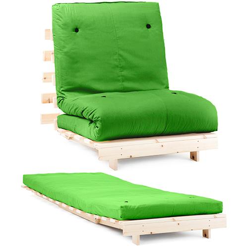 Premier Luxury Futon Wooden Sofa Bed With 100 Cotton Twill Mattress