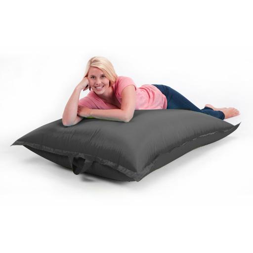 Black Large Outdoor Bean Bag Garden Waterproof Seat Chair