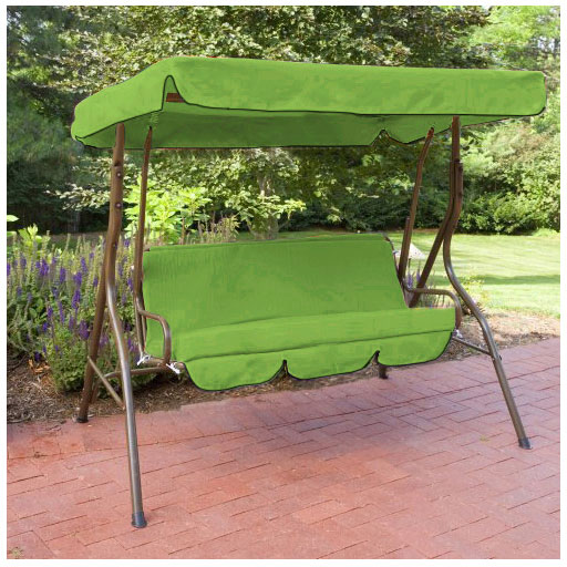 Lime Water Proof 3 Seater Garden Hammock Swing Seat Canopy Cover ...