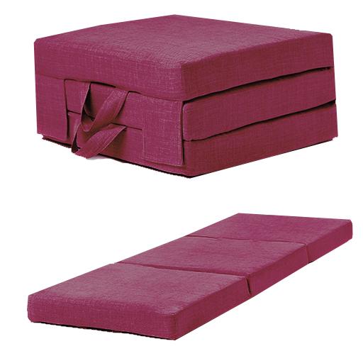 pink linen effect single chair z bed folding futon fold out foam guest mattress ebay. Black Bedroom Furniture Sets. Home Design Ideas