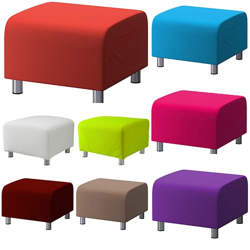 custom slip cover for ikea klippan footstool 100 cotton sofa cover foot stool ebay. Black Bedroom Furniture Sets. Home Design Ideas