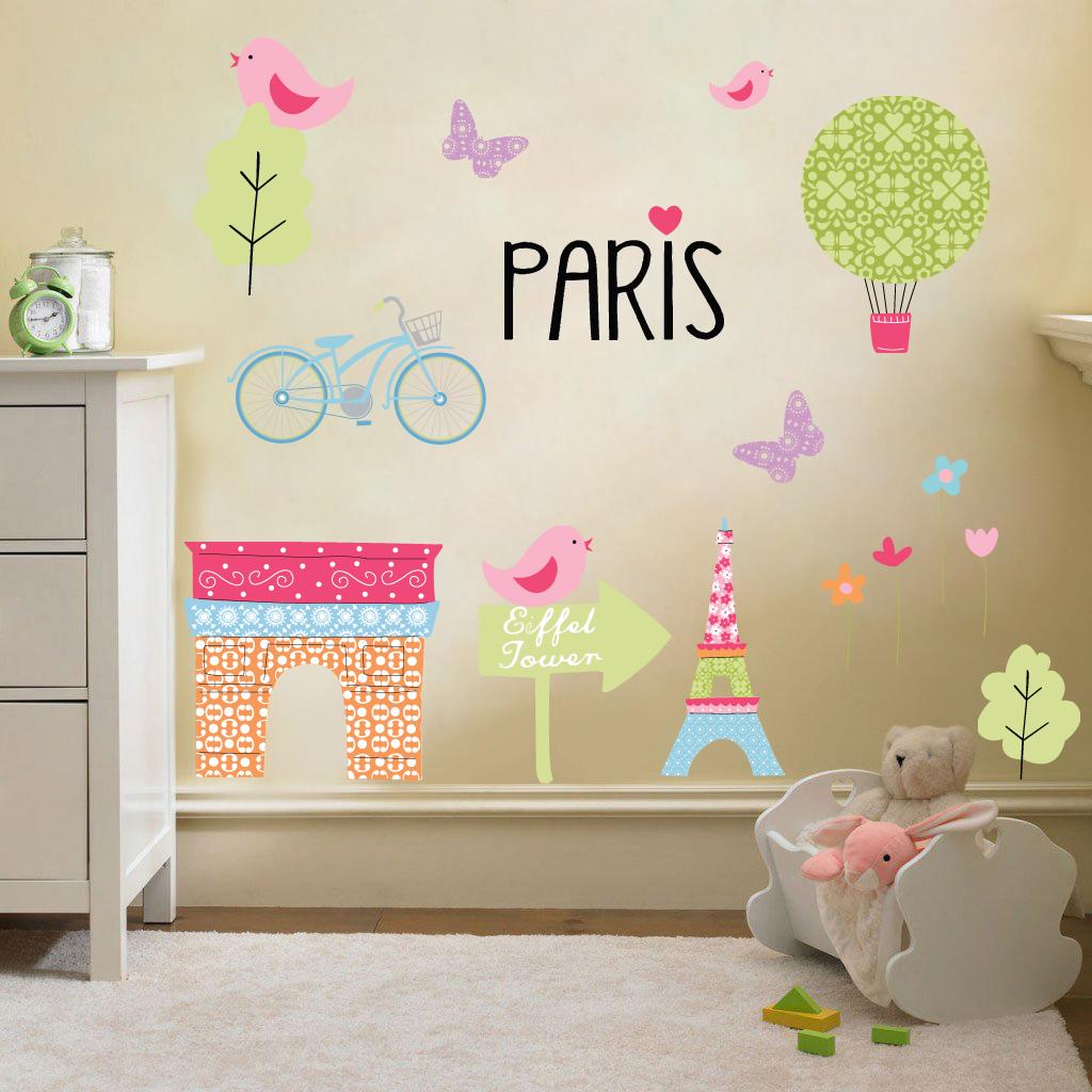 Bambini bimbi fantasia decorazione muro camera adesivi set - Adesivi camera bimbi ...