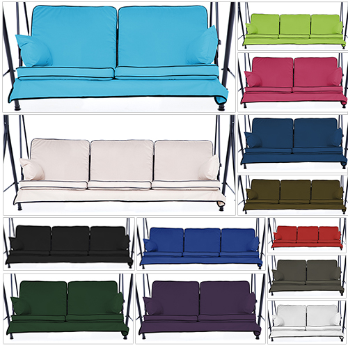 Replacement Swing Seat Hammock Cushions Set For 2 3 Seater Sizes