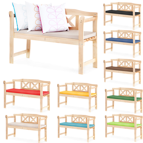 Cushion For Small Outdoor Home Wooden 2 Seat Seater Garden