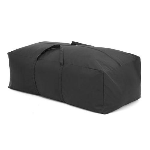 Black waterproof large cushion storage bag cover garden for Garden furniture cushion covers uk