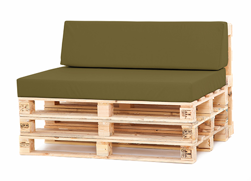 Olive Large Back Seat Cushion Set Pallet Seating Garden Furniture