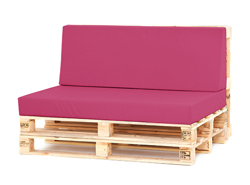 Excellent Pink Small Back Seat Cushion Set Pallet Seating Garden Furniture Waterproof Home Remodeling Inspirations Propsscottssportslandcom