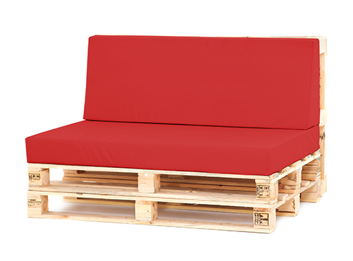 Details About Red Large Back Seat Cushion Set Pallet Seating Garden Furniture Waterproof