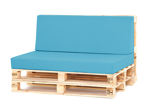 Turquoise LARGE BACK U0026 SEAT Cushions Pallet Seating Garden ... Part 74