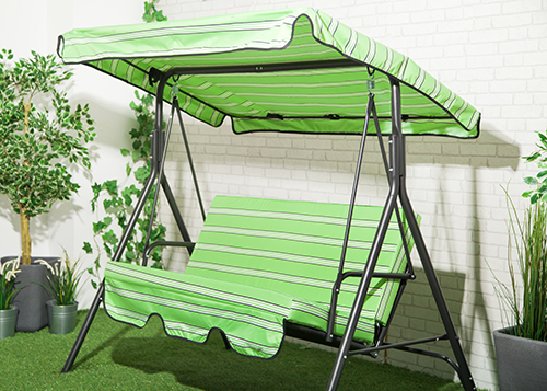 Stripes Replacement Canopy For Swing Seat Garden Hammock 2 U0026 3 Seater Size  Cover | EBay