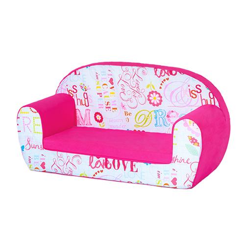 hello there pink kids children s double foam sofa toddlers seat rh ebay co uk marshmallow sofa for toddlers sofa chair for toddlers
