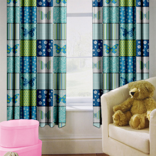 Childrens Nursery Bedroom Curtains Kids Junior Baby Pencil
