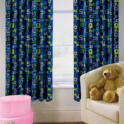 Alphabet Children\'s Kids Curtains 66\