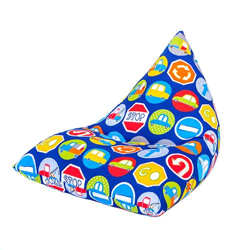 Pour-Enfants-Forme-Pyramidale-Pouf-Poire-Chaise-de-Jeux-Grand-Gamer-Dos-Rehausse