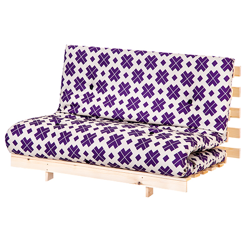 Double 4ft 125cm Futon Wooden Frame Sofa Bed