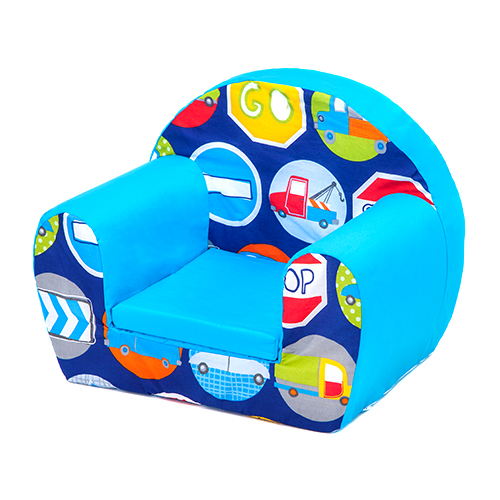 road signs childrens kids comfy foam chair toddlers armchair seat