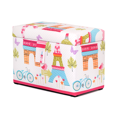 Children S Large Upholstered Wooden Toy Box Chest Soft