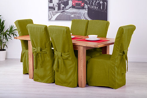 set of 6 lime linen fabric dining chair covers for scroll top high rh ebay co uk Stretch Dining Chair Covers Table and Chair Covers